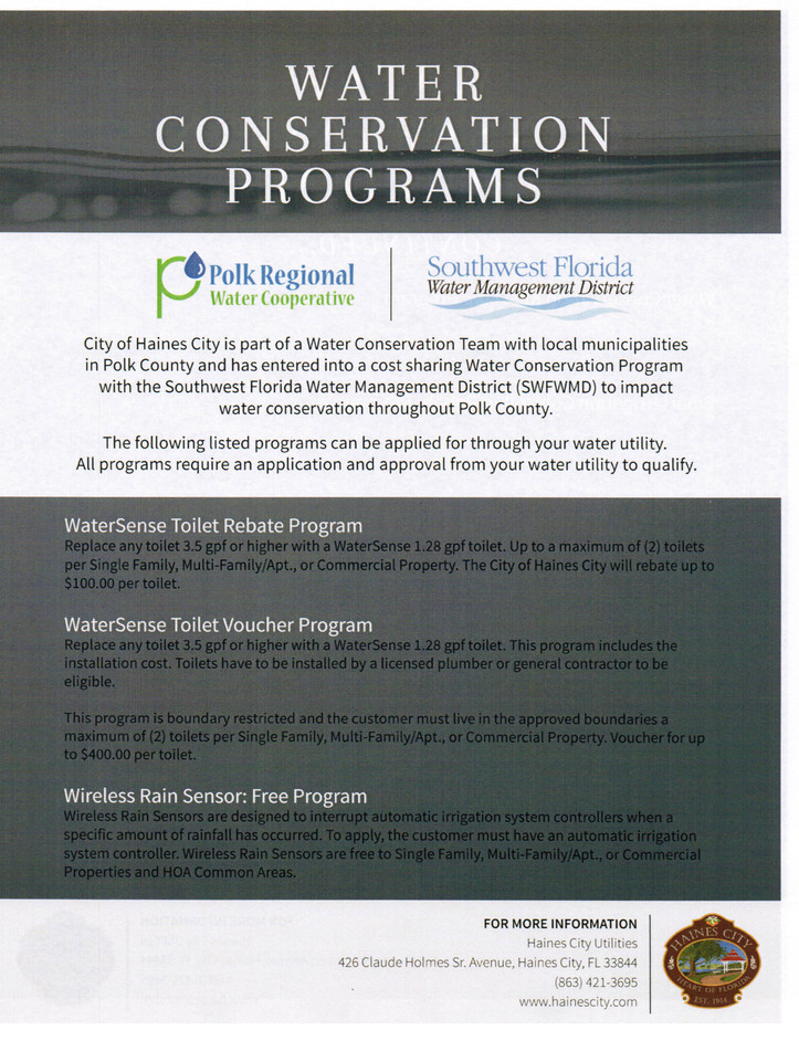 Master Community, Southern Dunes HOA Water Conservation Prgm